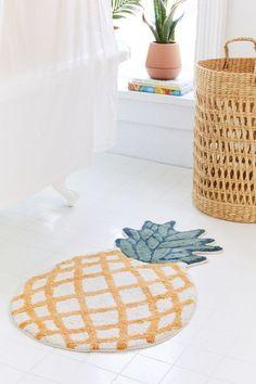 Let's Hang Bath Mat Bathroom Decoration pineapple bathroom decor Food Storage Boxes, New Toilet, Simple Baby Shower, Printed Cushions, Small Bathroom, Bathroom Ideas, Wood Bathroom, Bathroom Fixtures, Bathroom Organization