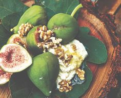 """Goat Cheese with Fresh Figs Recipes from """"Malibu Farm Cookbook"""" offer up farm-to-table cool inspired by the cult fave restaurant and its chef-owner, Helene Henderson. Fig Recipes, Vegetarian Recipes, Healthy Recipes, I Love Food, Good Food, Malibu Farm, Fresh Figs, California Cool, Meatless Monday"""