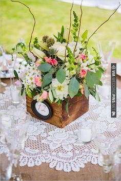 flower box table numbers | CHECK OUT MORE IDEAS AT WEDDINGPINS.NET | #weddings #weddingflowers #flowers