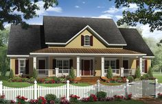 Country Plan with Bonus Room - 51104MM | Country, Farmhouse, Photo Gallery, USDA Approved, 1st Floor Master Suite, Bonus Room, Butler Walk-in Pantry, CAD Available, PDF, Split Bedrooms, Corner Lot | Architectural Designs