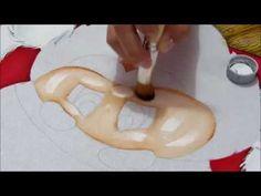 Pintura em tecido Eliane Nascimento: Barradinho de Papai Noel - YouTube