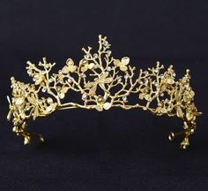 2017 New Fashion Vintage Gold Flower Bridal Crown Charming Rhinestone Tiaras for Women Wedding Diadem Hair Accessories wholesale-in Hair Jewelry from Jewelry & Accessories on Aliexpress.com | Alibaba Group