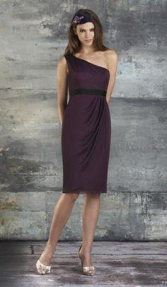 Bari Jay 669 One Shoulder Short Bridesmaid Dress