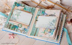 Морской альбом Фото разворотов Hand made by Evgenia K.: Coastal Escape Album for Kaisercraft и розыгрыш весенней конфетки
