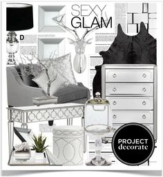 """Project Decorate: Sexy Glam With Honey We're Home"" by pisces7 on Polyvore"