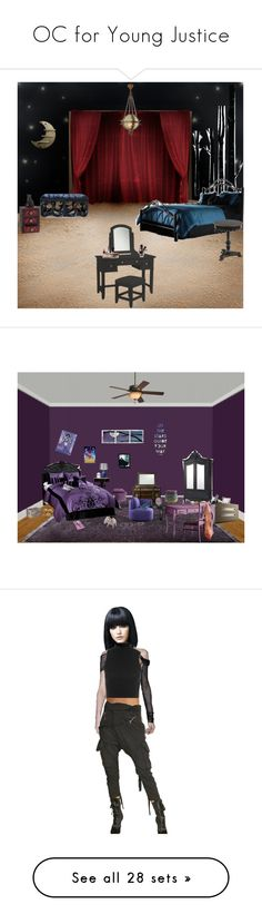 """""""OC for Young Justice"""" by anahita-unduli-ii ❤ liked on Polyvore featuring interior, interiors, interior design, home, home decor, interior decorating, Dot & Bo, Home Styles, bedroom and stars"""