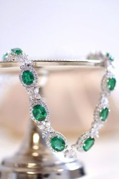 Emerald and diamond necklace with over 38 carats of emeralds and 16 carats of diamonds.