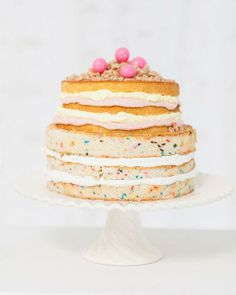 Funfetti layered cake, almost too cute to eat.