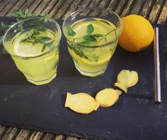 Das Rezept | Minz-Ingwer-Tee mit Kurkuma