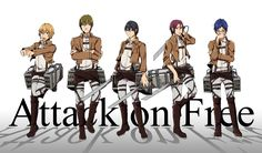 Attack on Free! Ryugazaki Rei, Hazuki Nagisa, Matsuoka Rin, Nanase Haruka & Tachibana Makoto