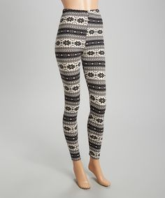 Another great find on #zulily! Gray Fair Isle Leggings - Women #zulilyfinds