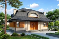 projekt Orle DM-6249 KRF1278 Dm, Home Fashion, Gazebo, New Homes, Houses, Outdoor Structures, Cabin, House Styles, Home Decor