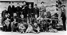 I never knew the real story of the feud between The Hatfield's and McCoy's. I recommend the mini series on The History Channel. The Hatfield family in 1897.