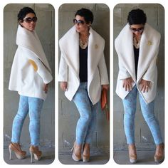 Loooovvvveeee the coat. It's what outerwear dreams are made of. Fashion Sewing, Diy Fashion, Love Fashion, Autumn Fashion, Vogue Patterns, Coat Patterns, Skirt Patterns, Blouse Patterns, Clothes Patterns