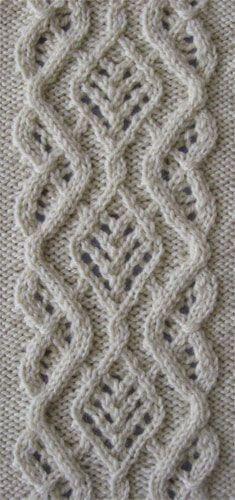 Hemstitch torsades cool knitting pattern