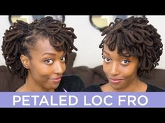 Loc Hairstyle Tutorial: Petaled Loc Fro via Chescalocs