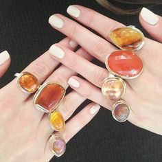 Jamie Joseph rings... ooh, the colors! finger-candy...