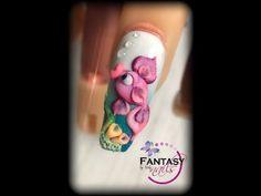 3d Acrylic Nails, Stiletto Nail Art, 3d Nail Art, 3d Nails, Swag Nails, Pastel Nails, Art 3d, Flamingo Nails, Unicorn Nails