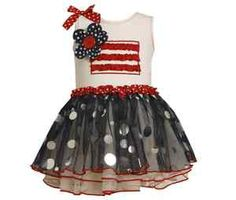 f21f4d543 Bonnie Jean Toddler Girls Patriotic July 4th Red White Blue Tutu Dress 2T  New