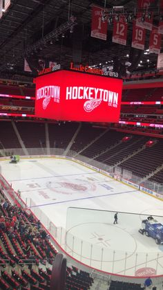 I took this picture about an hour after a Detroit Red Wings game, I really like this one because the stadium is eerily empty. Sports Stadium, Detroit Red Wings, Empty, Hockey, Pictures, Photos, Field Hockey, Grimm