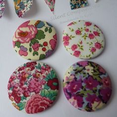 Liberty print magnets from Folksy