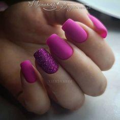 Sns Nails Colors, Teal Nails, Sparkle Nails, My Nails, Hot Pink Nails, Elegant Nails, Stylish Nails, Trendy Nails, Cute Acrylic Nails
