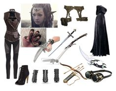 """""""The Hobbit oc"""" by mukmuk214 ❤ liked on Polyvore featuring Sam Edelman, Haute Hippie and S.W.O.R.D."""
