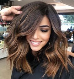 Natural Brown Hair, Honey Brown Hair, Short Brown Hair, Brown Hair Medium Length, Short Thick Hair, Medium Length Updo, Haircuts For Medium Hair, Haircut For Thick Hair, Medium Hair Cuts