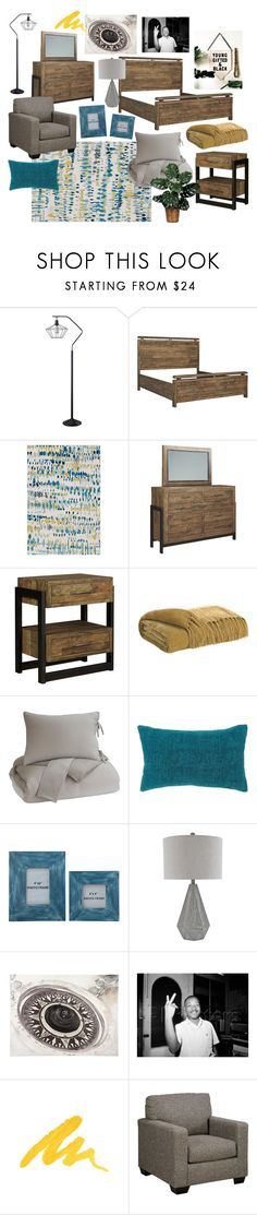 """Teal & Yellow Bedroom"" by ashleyhomestore on Polyvore featuring interior, interiors, interior design, home, home decor, interior decorating, Urban Decay and bedroom"