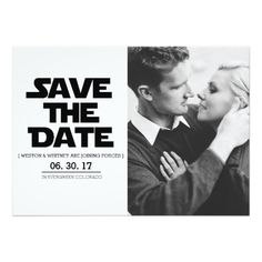 The Force | Alternative Save The Date | Sci Fi Star Wars www.zazzle.com/redefineddesigns?rf238262815644635252