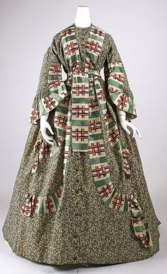 Dressing Gown 1860, American, Made of cotton and silk