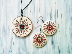HandPainted Clay Jewelleries Clay Jewelry, Washer Necklace, Handmade Jewelry, Hand Painted, Christmas Ornaments, Holiday Decor, Model, Design, Handmade Jewellery