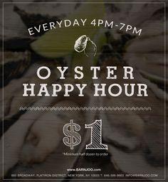 oyster bar happy hour menu nyc - Google Search