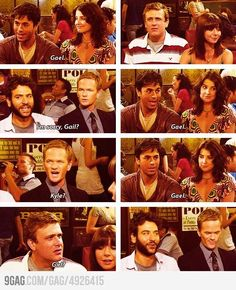 One of the best HIMYM moments with Male Gail How I Met Your Mother, Best Tv Shows, Best Shows Ever, Favorite Tv Shows, Favorite Things, Anton, I Meet You, Told You So, Robin