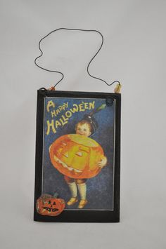 Happy Halloween Hang Up by folkhearts on Etsy, $10.00