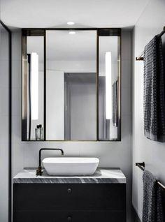 Australian Interior Design Awards - The Melburnian by Studio Tate Bathroom Design Inspiration, Bad Inspiration, Modern Bathroom Design, Bathroom Interior Design, Design Ideas, Interior Inspiration, Bathroom Designs, Public Bathrooms, Chic Bathrooms
