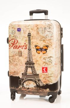 Zapatos y carteras Carry On Luggage, Travel Luggage, Travel Backpack, Luggage Bags, Travel Bags, Paris Room Decor, Cute Suitcases, En Stock, Tour Eiffel