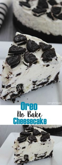 Oreo No Bake Cheesecake: this is always a hit with the crowds, and its a no bake dessert, which makes it a winner all the way around! Click through for the recipe. No Bake Desserts, Easy Desserts, Delicious Desserts, Dessert Recipes, Yummy Food, Oreo Desserts, Baking Desserts, No Bake Oreo Cheesecake, Baked Cheesecake Recipe