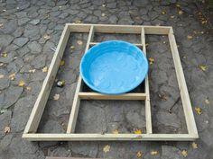 Build a Multilevel Deck For a Kiddie Pool: Nail together four 6' 2x6s into a square. Use a framing square to make sure all the corners are 90 degrees.  Use the pool as a guide for placing the interior joists; make those out of 2x6s as well. You want it to be tight enough for the lip of the pool to rest on, but not so tight that you won't be able to easily remove it. Nail in two joists lengthwise, and two smaller perpendicular joists to frame in the pool.  From DIYnetwork.com