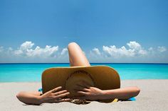 Stock Photo : Woman laying on towel on beach Sunburn Relief, How Can I Get, Life Questions, Feel Tired, Belleza Natural, Successful People, Wealthy People, Beach Pictures, Beach Pics