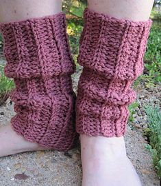 Ravelry: Heat Wave Ankle Warmers pattern by Kathy North Free Crochet Boot Cuffs, Crochet Boots, Crochet Slippers, Crochet Baby Pants, Crochet Girls, Easy Crochet, Crochet Things, Irish Crochet, Crochet Blanket Edging