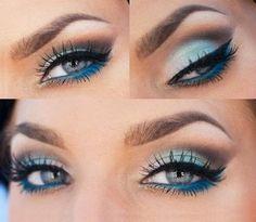 Best Eyeshadow For Blue Eyes Brown Hair Pale Skin - #eyemakeup #eyeshadow #blueshadow #oceancolors #blueeyes - bellashoot.com