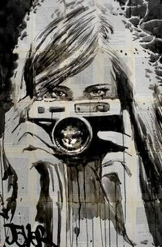"Saatchi Art Artist: Loui Jover; Pen and Ink 2013 Drawing ""shutterbug"""