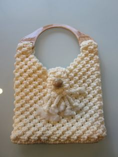 Vintage Cream Macrame Purse by MemphisNanney on Etsy, $12.75