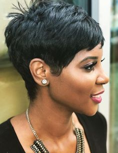 Short-Pixie-Cut Short Relaxed Hairstyles for Black Women - Hairstyles Short Relaxed Hairstyles, Short Pixie Haircuts, Pixie Hairstyles, Black Women Hairstyles, Straight Hairstyles, Hairstyles 2016, Black Pixie Haircut, Female Hairstyles, School Hairstyles