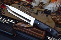 CFK USA Custom Handmade D2 Battle Raptor Tanto Bushcraft Knife Kydex Sheath Set | eBay