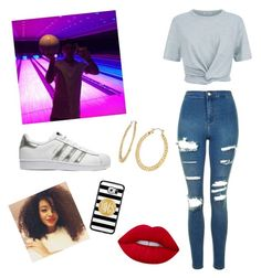 """""""Bowling with Justin"""" by lovemusic2001 on Polyvore featuring T By Alexander Wang, Topshop, adidas Originals, Fragments, Samsung and Lime Crime"""