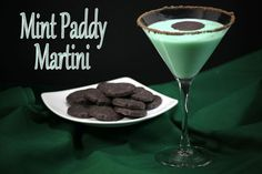 To celebrate both St. Patrick's Day and Girl Scout Cookies we created this mint martini. While it doesn't use Irish Whiskey or Guinness beer the green color of the cocktail will be a hit for any St. Patrick's Day celebration. And who doesn't love a drink that uses Thin Mint Girl Scout cookies as