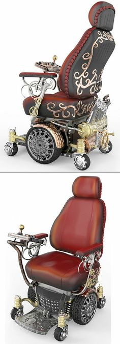 Steampunk Wheelchair designed for a Make-a-Wish teen