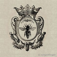 love the frame, change the bee. Tattoo Liebe, 1 Tattoo, New Tattoos, Cameo Tattoo, Queen Bee Images, Queen Bee Tattoo, 3d Templates, Foto Transfer, Vintage Bee